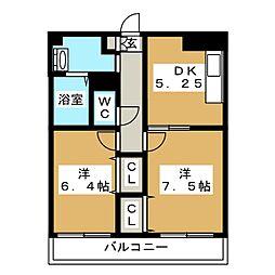 グレイス松島[5階]の間取り