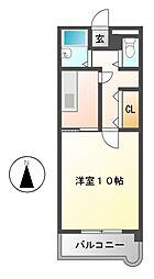 レストポイント園山[2階]の間取り