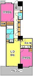 フォーラスタワー所沢[3階]の間取り