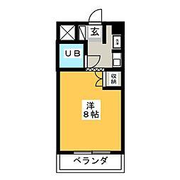 日置ビル[4階]の間取り