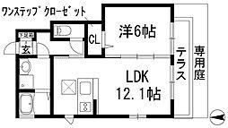 ヴィラージュ桜ガ丘[1階]の間取り