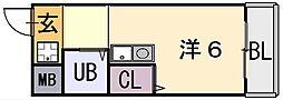 シティーハイツ弥刀[5階]の間取り