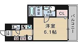 S-RESIDENCE南堀江 9階1Kの間取り