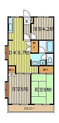 ペルデュールミキ[5階]の間取り