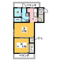 ファミール山王[2階]の間取り