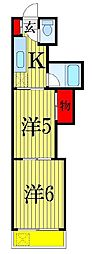 千葉県習志野市実籾2丁目の賃貸マンションの間取り