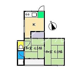 鳥越ハイツ[3階]の間取り