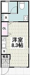 二俣川駅徒歩7分 アレーズ二俣川A 101号室[101号室]の間取り
