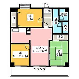 坂野マンション[10階]の間取り