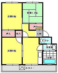 兵庫県加古郡播磨町古宮の賃貸マンションの間取り