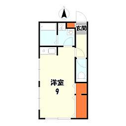 憩ハウス[202号室]の間取り