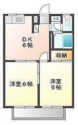 エステートピア・マイ[2階]の間取り
