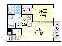 北海道札幌市北区北19条西7丁目の賃貸マンションの間取り