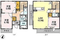 D-room市崎[1階]の間取り