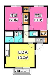 リーベンスA棟[1階]の間取り