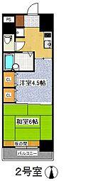 プレジデント・イン・上杉[6階]の間取り