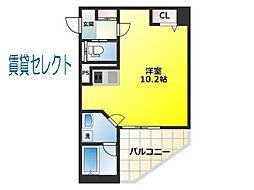 リベルテ松戸[301号室]の間取り