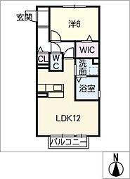キートスマルカ A棟[1階]の間取り