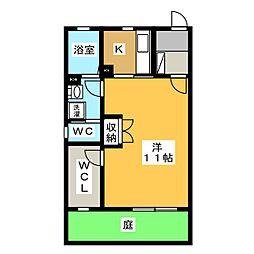 フルハウスB棟[1階]の間取り