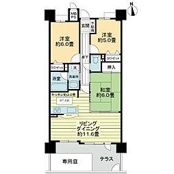 ライオンズマンション築地口弐番館[1階]の間取り