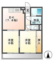 ベルクラント高田[2階]の間取り