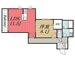 La miya casa[201号室]の間取り