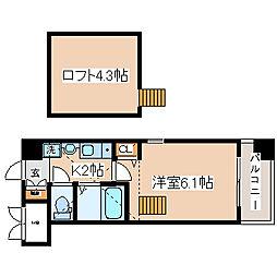 兵庫県神戸市中央区脇浜町3丁目の賃貸マンションの間取り