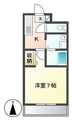 ハイツ草薙[2階]の間取り