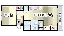 シルフィード・ドゥ・御崎[3階]の間取り