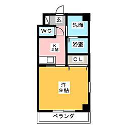 シャトーボナールII[3階]の間取り