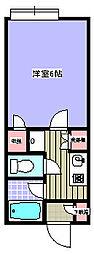 イーストアベニュー[203号室]の間取り
