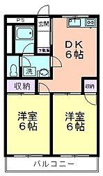 ラ・フルール久米川[402号室]の間取り
