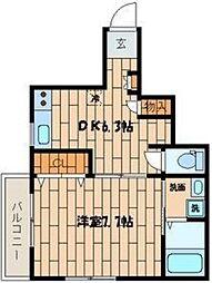 東京都渋谷区東3丁目の賃貸アパートの間取り