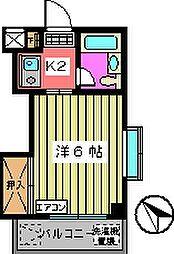 第2サンフラワーマンション[401号室]の間取り