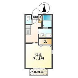 プリシェール平田[105号室]の間取り