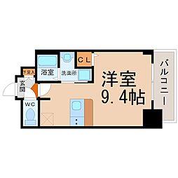 プレサンスNAGOYA桜通ビッグビート[709号室]の間取り