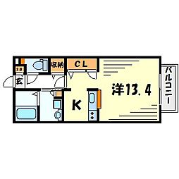 DAIKENN武庫之荘II[1階]の間取り