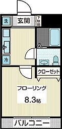 リッツレーブ[1階]の間取り