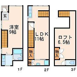 [テラスハウス] 兵庫県西宮市甲子園口1丁目 の賃貸【/】の間取り