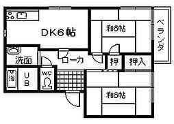 フラワーハイツ・ムラナカ A棟[2階]の間取り
