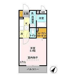 SkyルームIII[1階]の間取り