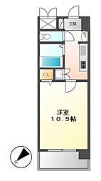 鶴舞パークヒルズ[5階]の間取り