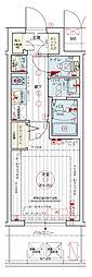 Osaka Metro千日前線 阿波座駅 徒歩5分の賃貸マンション 9階1Kの間取り