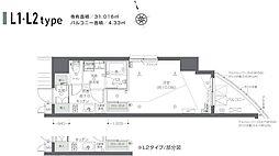 ZOOM新宿夏目坂 5階1Kの間取り