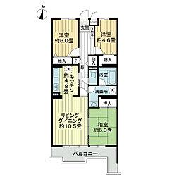 ライオンズマンション大宮指扇第2[4階]の間取り
