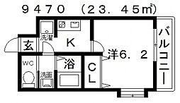 ARATA松原天美東(アラタ松原天美東)[301号室号室]の間取り
