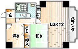 エクセル井堀[4階]の間取り
