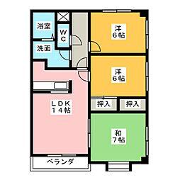 パークサイドヒロ[2階]の間取り