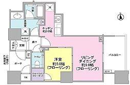 DEUX TOURS(ドゥ・トゥール) 30階1LDKの間取り