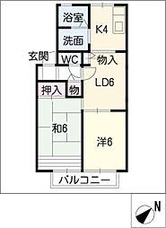 グリーンパークスMS C棟[2階]の間取り